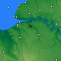 Nearby Forecast Locations - Pont-Audemer - Χάρτης