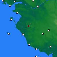 Nearby Forecast Locations - Les Herbiers - Χάρτης