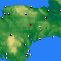 Nearby Forecast Locations - Tiverton - Χάρτης