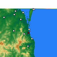 Nearby Forecast Locations - Gold Coast - Χάρτης