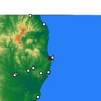 Nearby Forecast Locations - Byron Bay - Χάρτης