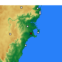 Nearby Forecast Locations - Sanctuary Point - Χάρτης