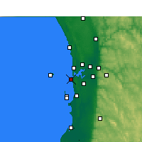 Nearby Forecast Locations - Fremantle - Χάρτης