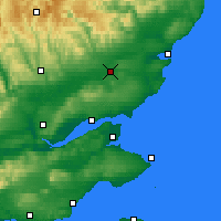 Nearby Forecast Locations - Forfar - Χάρτης