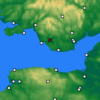 Nearby Forecast Locations - Bridgend - Χάρτης