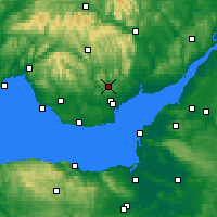 Nearby Forecast Locations - Caerphilly - Χάρτης