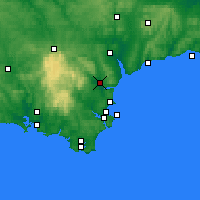 Nearby Forecast Locations - Teignbridge - Χάρτης