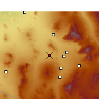 Nearby Forecast Locations - Valencia West - Χάρτης