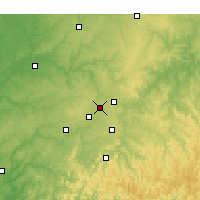 Nearby Forecast Locations - Bentonville - Χάρτης