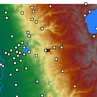 Nearby Forecast Locations - Placerville - Χάρτης