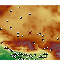 Nearby Forecast Locations - El Mirage - Χάρτης