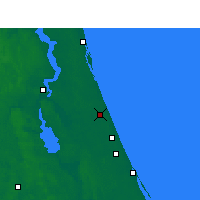 Nearby Forecast Locations - Bunnell - Χάρτης