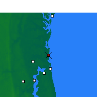Nearby Forecast Locations - Fernandina Beach - Χάρτης
