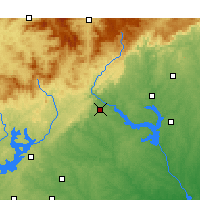 Nearby Forecast Locations - Toccoa - Χάρτης