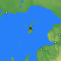 Nearby Forecast Locations - Beaver Island - Χάρτης
