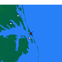 Nearby Forecast Locations - Kill Devil Hills - Χάρτης