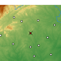 Nearby Forecast Locations - Lincolnton - Χάρτης