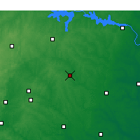 Nearby Forecast Locations - Louisburg - Χάρτης
