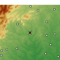 Nearby Forecast Locations - Shelby - Χάρτης