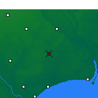 Nearby Forecast Locations - Whiteville - Χάρτης