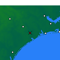 Nearby Forecast Locations - Jacksonville - Χάρτης