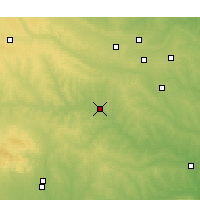 Nearby Forecast Locations - Chickasha - Χάρτης