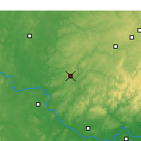 Nearby Forecast Locations - Tahlequah - Χάρτης