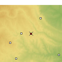 Nearby Forecast Locations - Weatherford - Χάρτης