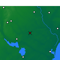 Nearby Forecast Locations - Kingstree - Χάρτης