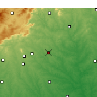 Nearby Forecast Locations - Spartanburg - Χάρτης