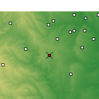 Nearby Forecast Locations - Cleburne - Χάρτης