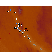 Nearby Forecast Locations - Fort Bliss - Χάρτης