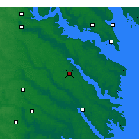 Nearby Forecast Locations - Tappahannock - Χάρτης