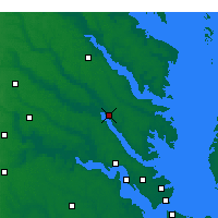 Nearby Forecast Locations - West Point - Χάρτης
