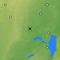 Nearby Forecast Locations - Waupaca - Χάρτης