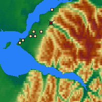 Nearby Forecast Locations - Eagle River - Χάρτης