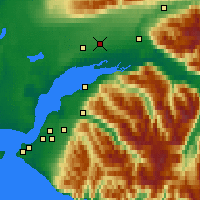 Nearby Forecast Locations - Wasilla - Χάρτης
