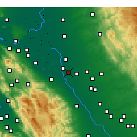 Nearby Forecast Locations - Manteca - Χάρτης