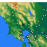 Nearby Forecast Locations - Sonoma - Χάρτης