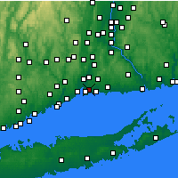 Nearby Forecast Locations - East Haven - Χάρτης