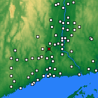 Nearby Forecast Locations - Southington - Χάρτης
