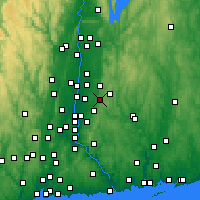 Nearby Forecast Locations - Vernon - Χάρτης