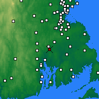 Nearby Forecast Locations - Attleboro - Χάρτης