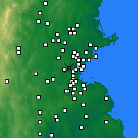 Nearby Forecast Locations - Belmont - Χάρτης