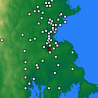 Nearby Forecast Locations - Canton - Χάρτης