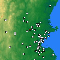 Nearby Forecast Locations - Chelmsford - Χάρτης