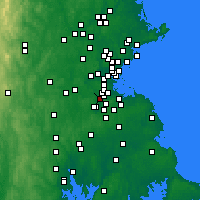 Nearby Forecast Locations - Dedham - Χάρτης