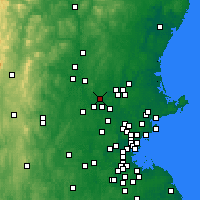Nearby Forecast Locations - Dracut - Χάρτης