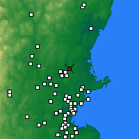 Nearby Forecast Locations - Haverhill - Χάρτης
