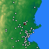 Nearby Forecast Locations - Lawrence - Χάρτης